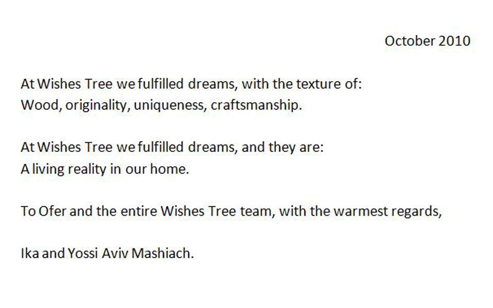 http://fr.wishes-tree.com/ika-and-yossi-aviv-mashiach/